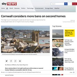 Cornwall considers more bans on second homes