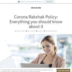 Corona Rakshak Policy: Everything you should know about it