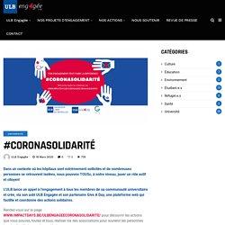 #CORONASOLIDARITÉ - ULB Engagée