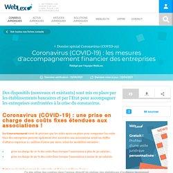 COVID-19 : les mesures d'accompagnement financier des entreprises