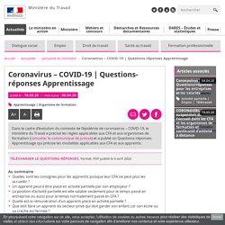 Questions-réponses Apprentissage Ministère du travail