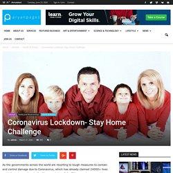 Coronavirus Lockdown- Stay Home Challenge - AryanPages