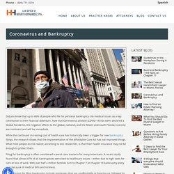 Coronavirus and Bankruptcy - Top Attorney in Florida
