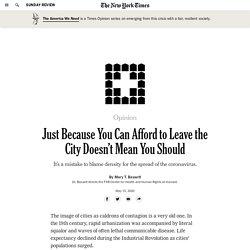 The Coronavirus Isn't Worse in Cities Because of Density