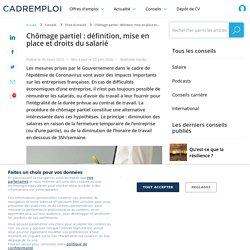 Chômage partiel : salaire, travail et procédure spéciale Coronavirus - Cadremploi