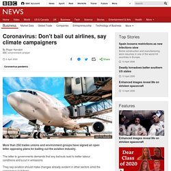 Don't bail out airlines, say climate campaigners