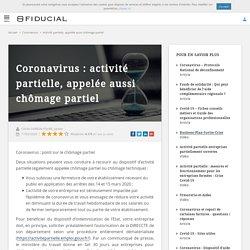 Coronavirus : chômage partiel