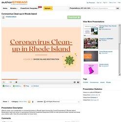 Coronavirus Clean-Up in Rhode Island