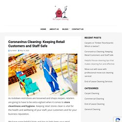 Coronavirus Cleaning: Keeping Retail Customers and Staff Safe