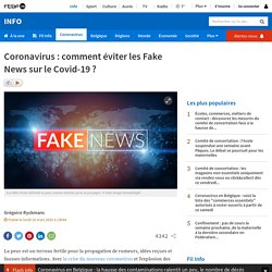 Coronavirus: comment éviter les Fake News sur le Covid-19?