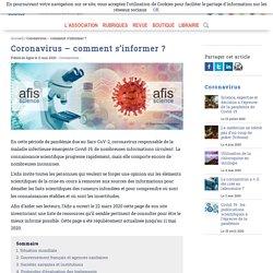 Association française pour l'information scientifique (Afis) - Coronavirus : comment s'informer ?