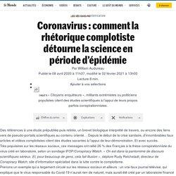 Coronavirus: comment la rhétorique complotiste détourne lascience en période d'épidémie