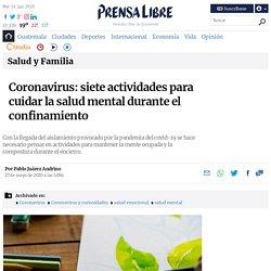 Coronavirus: siete actividades para cuidar la salud mental durante el confinamiento