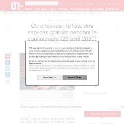 Coronavirus : la liste des services gratuits pendant le confinement