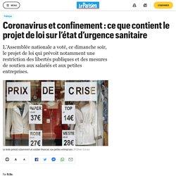 Coronavirus et confinement : ce que contient le projet de loi sur l'état d'ur...
