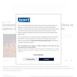 Coronavirus : face au confinement, théâtres et opéras diffusent des spectacles en ligne