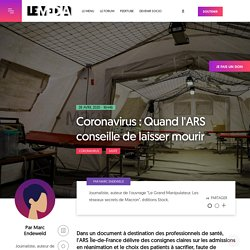 Coronavirus : Quand l'ARS conseille de laisser mourir