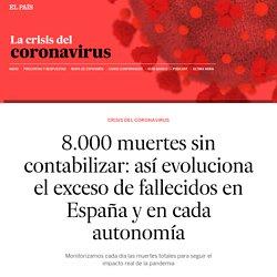 Coronavirus: 8.000 muertes sin contabilizar: así evoluciona el exceso de fallecidos en España y en cada autonomía