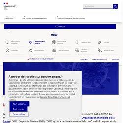 Info Coronavirus COVID-19 - Comprendre la covid-19