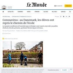 Coronavirus: au Danemark, les élèves ont repris le chemin de l'école