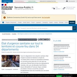 État d'urgence sanitaire sur tout le territoire et couvre-feu en Île-de-France et dans 8métropoles