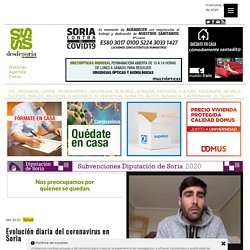 Evolución diaria del coronavirus en Soria « desdeSoria // Periódico digital de Soria