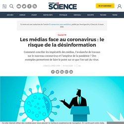 Les médias face au coronavirus : le risque de la désinformation