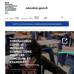 Coronavirus Covid-19 – Quelles dispositions pour les concours et examens ?