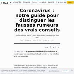 Le Monde - Coronavirus: notre guide pour distinguer les fausses rumeurs des vrais conseils