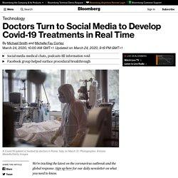 Coronavirus: Doctors Turn to Social Media to Develop Solutions