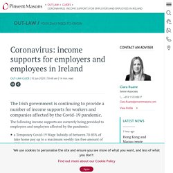 Coronavirus: income supports for employers and employees in Ireland
