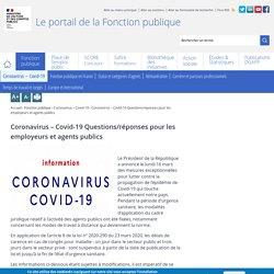 Coronavirus – Covid-19 Questions/réponses pour les employeurs et agents publics