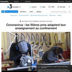 Coronavirus: les filières pros adaptent leur enseignement au confinement