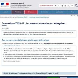 Coronavirus COVID-19 : chefs d'entreprise, le ministère de l'Economie est à vos côtés