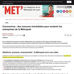 MET' – Coronavirus : des mesures immédiates pour soutenir les entreprises de la Métropole