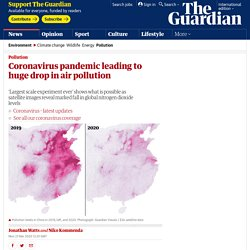 Coronavirus pandemic leading to huge drop in air pollution