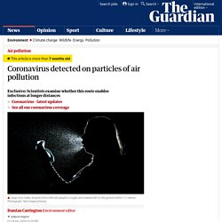 Coronavirus detected on particles of air pollution