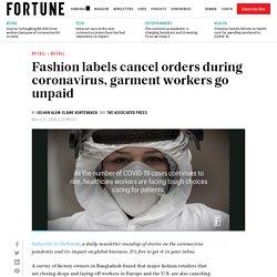 Coronavirus hits fashion industry, garment workers go unpaid