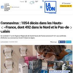 Coronavirus : 1054 décès dans les Hauts-de-France, dont 492 dans le Nord et le Pas-de-Calais