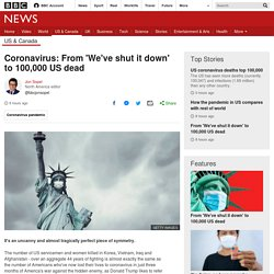 Coronavirus: From 'We've shut it down' to 100,000 US dead