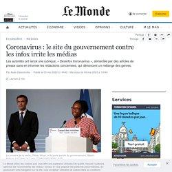 Coronavirus : le site du gouvernement contre les infox irrite les médias
