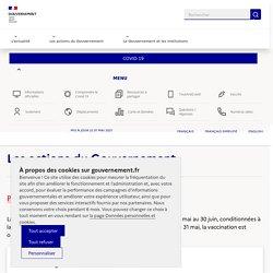 Info Coronavirus COVID-19 - Les actions du Gouvernement