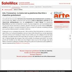 Arte / Coronavirus: la chaîne met sa plateforme Educ'Arte à disposition gratuitement