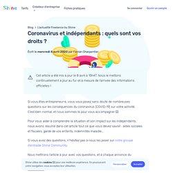 Coronavirus et indépendants : quels sont vos droits ?