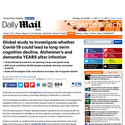 infection could lead to long-term cognitive decline and Alzheimer's