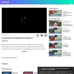 Le coronavirus prédit par les Simpson ? - Vidéo Education aux médias et à l'information