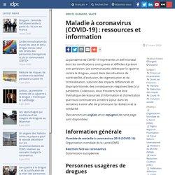 Maladie à coronavirus (COVID-19) : ressources et information