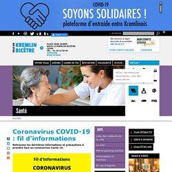 Coronavirus COVID-19 : fil d'informations