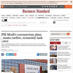 PM Modi's coronavirus plan: Janata curfew, economic task force