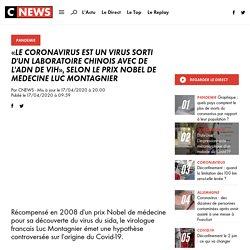 «Le coronavirus est un virus sorti d'un laboratoire chinois avec de l'ADN de VIH», selon le prix Nobel de Médecine Luc Montagnier